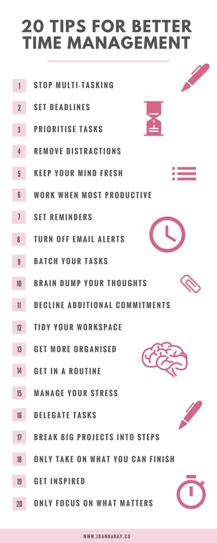 13 Time Management Tips That Anyone Can Implement - Tips ...  Time Management Tips